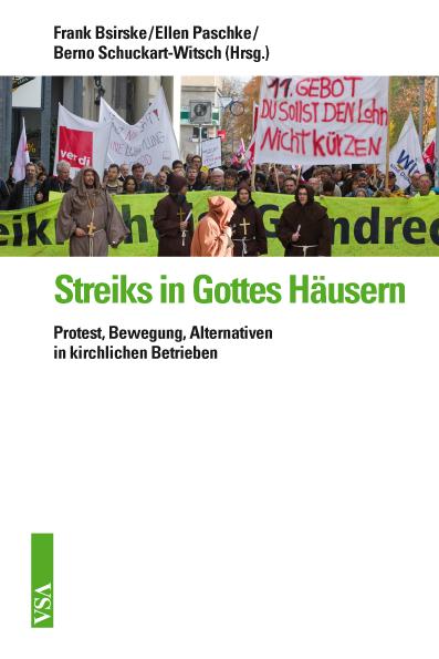 Buchcover Bsirske (Hg. u.a.) Streiks in Gottes Häusern