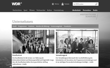 Screenshot Rundfunks des WDR