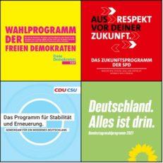 Screenshot Parteien Wahlprogramme 2021
